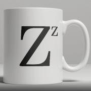Alphabet Keramik Designer Tasse - Buchstabe Z