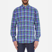 Polo Ralph Lauren Men's Long Sleeved Shirt - Liberty Blue