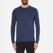 Polo Ralph Lauren Men's Crew Neck Merino Blend Knitted Jumper - Shale Blue Heat