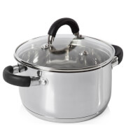 Tower Stainless Steel Casserole Dish 24cm