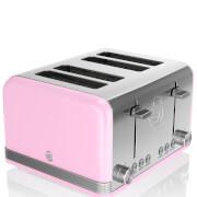 Swan 4 Slice Retro Toaster - Pink