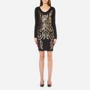 Versace Jeans Women's Mini Fitted Dress - Black