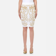 Versace Jeans Women's Knitted Skirt - White