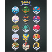 Pokemon Pokeballs Mini Poster - 40 x 50cm