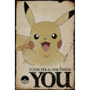 Pokemon Pikachu Needs You Maxi Poster - 61 x 91.5cm