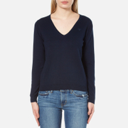 GANT Women's Soft Cotton V-Neck Jumper - Marine