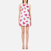 Love Moschino Women's All Over Heart Watermelon Print Shift Dress - White/Watermelon
