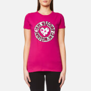 Love Moschino Women's Heart Watermelon Logo Print T-Shirt - Fuxia