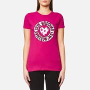 Love Moschino Women's Heart Watermelon Logo Print T-Shirt - Fuxia