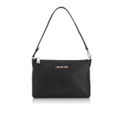 Love Moschino Women's Love Printed Shoulder Clutch Bag - Black