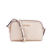 Love Moschino Women's Love Heart Embossed Mini Cross Body Bag - Beige