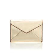 Rebecca Minkoff Women's Mirrored Metallic Leo Clutch Bag - Pale Gold