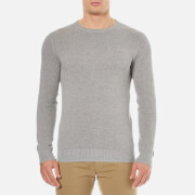 GANT Men's Cotton Pique Crew Knitted Jumper - Grey Melange