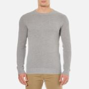 GANT Men's Cotton Pique Crew Neck Sweatshirt - Grey Melange