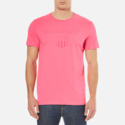 GANT Men's Tonal Gant Shield T-Shirt - Bright Magenta