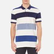 GANT Men's Oxford Multi Stripe Rugger Polo Shirt - Yale Blue