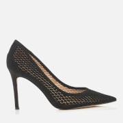 Sam Edelman Women's Hazel 2 Perforated Suede Court Shoes - Black