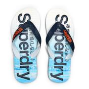 Superdry Men's Aop Flip Flops - Blue Wave