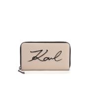Karl Lagerfeld Women's K/Metal Signature Zip Wallet - Scarlet