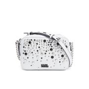 Karl Lagerfeld Women's K/Rocky Studs Small Cross Body Bag - White