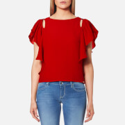 Guess Women's Short Sleeve Elis Top - Red Hot