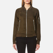 Superdry Women's Lillie Bomber Jacket - Dark Khaki