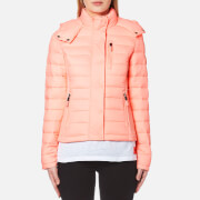 Superdry Women's Fuji Slim Double Zip Hoody - Papaya Coral