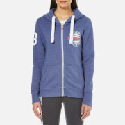 Superdry Women's Track & Field Zip Hoody - Horizon Blue Speckled