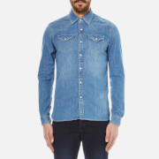 Scotch & Soda Men's Western Denim Shirt - Denim Blue