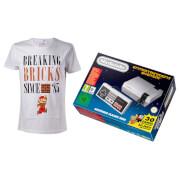 Nintendo Classic Mini: Nintendo Entertainment System + Breaking Bricks T-Shirt