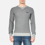 Superdry Men's Orange Label Crew Sweatshirt - Mid Grey Twill