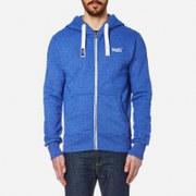 Superdry Men's Orange Label Zip Hoody - Regal Blue Grit