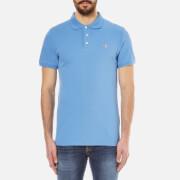 Maison Kitsuné Men's Tricolour Fox Polo Shirt - Steel