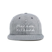 Maison Kitsuné Men's Baseball Cap Striped Hat - Navy Stripe
