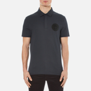 Versace Collection Men's Round Logo Polo Shirt - Blu Notte