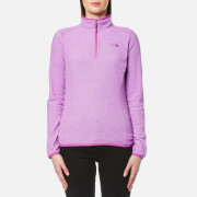 The North Face Women's 100 Glacier 1/4 Zip Fleece - Sweet Violet Stripe