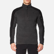 The North Face Men's Glacier Delta 1/4 Zip Fleece Jumper - TNF Dark Grey Heather