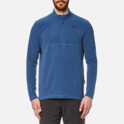 Jack Wolfskin Men's Gecko Quarter Zip Fleece - Ocean Wave