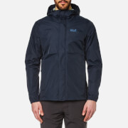 Jack Wolfskin Men's Cloudburst Hooded Jacket - Night Blue