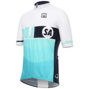 Santini Tour Down Under Glenelg Short Sleeve Jersey 2017 - White/Blue