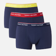 Tommy Hilfiger Men's 3 Pack Trunk Boxer Shorts - Aurora/Tango Red/Peacoat