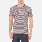 Pretty Green Men's Short Sleeve Feeder T-Shirt - Burgundy