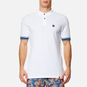 Pretty Green Men's Tedburn Short Sleeve Polo Shirt - White