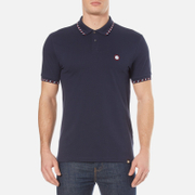Pretty Green Men's Elmwood Short Sleeve Polo Shirt - Navy