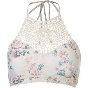 MINKPINK Women's Secret Garden Crochet Apron Bikini Top - Multi