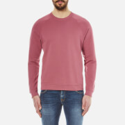 Folk Men's Crew Neck Sweatshirt - Soft Burgundy