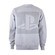 Sweat Homme - Logo Playstation - Gris Chiné