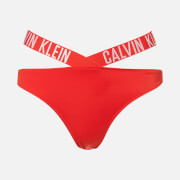 Calvin Klein Women's X Bikini Bottoms - Fiery Red