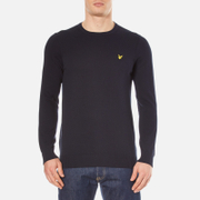 Lyle & Scott Men's Crew Neck Cotton Merino Knitted Jumper - Navy