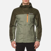 Columbia Men's Pouring Adventure Waterproof Jacket - Cypress/Peatmoss/Valencia